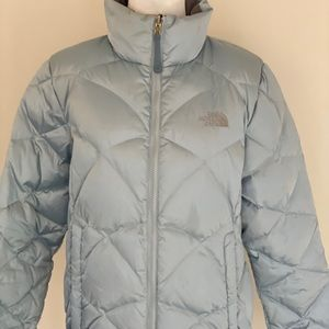 North Face Baby Blue Puffy Coat